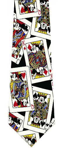 Mickey Mouse Poker Silk Tie