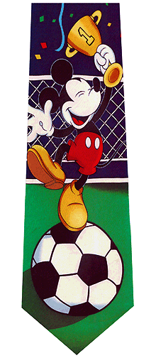 Mickey Mouse Soccer World Cup Silk Tie