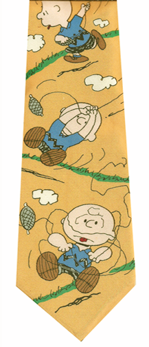 Charlie Brown Skiing Silk Tie