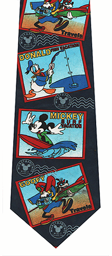 Disney Cartoon Character Post Cards Tie