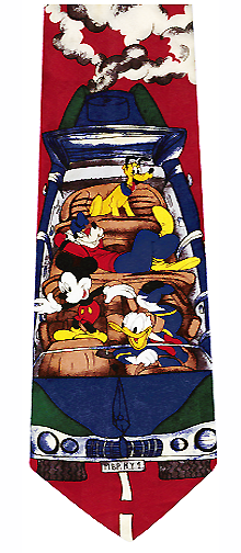 Disney Cartoon Characters Cruisin Silk Tie