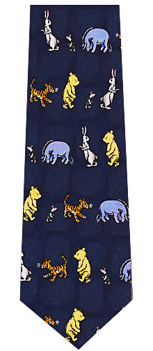 Disney Cartoons Pooh and Tiger Tie