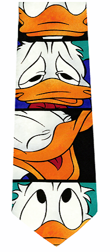 Disney Donald Duck Silk Necktie
