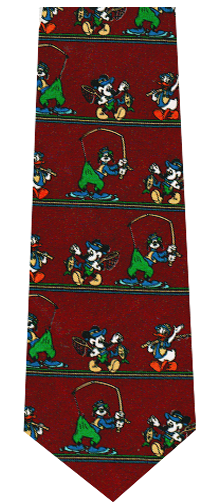 Disney Fishing Theme Silk Necktie