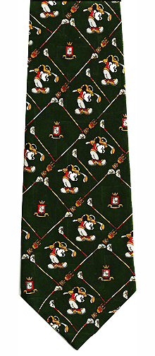 Disney Mickey Mouse Golf Theme Silk Tie