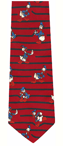 Donald Duck Silk Necktie