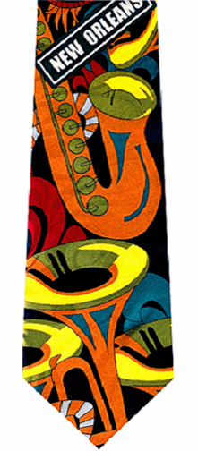 New Orleans Jazz Music Tie
