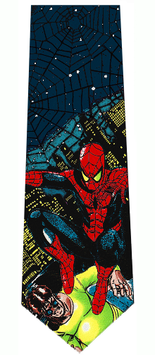 Marvel Spiderman and Dr. Octopus Silk Necktie