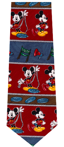 Mickey Mouse Film Director Necktie
