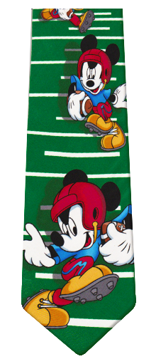 Mickey Mouse Football Silk Tie