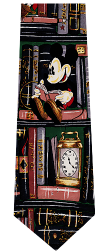 Mickey Mouse Library Silk Tie