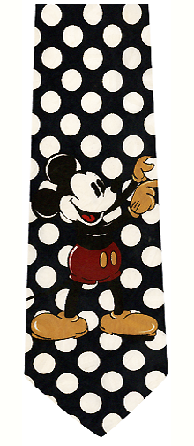 Mickey Mouse Silk Tie