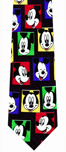 Mickey Mouse Squares Necktie