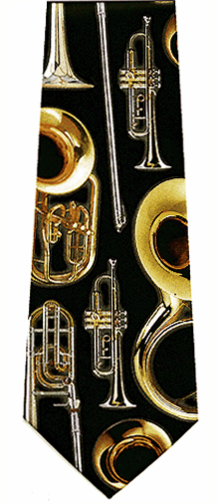 Music Brass Instruments Necktie