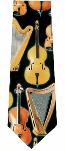 Music Instruments Strings Tie