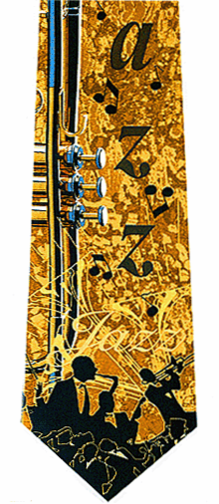 Music Jazz Necktie