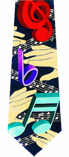 Music Graphic Theme Tie