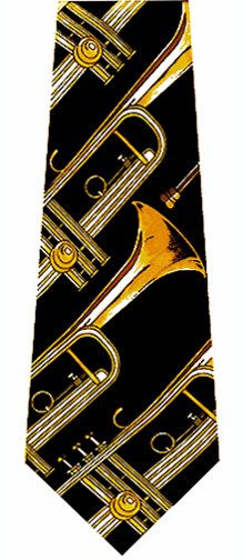 Music Trumpets Neckties