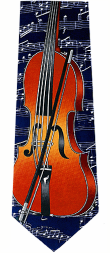 Music Violin Neckties