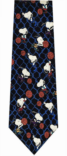 Peanuts Basketball Theme Silk Tie