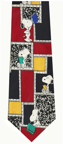 Peanuts Cartoon Character Snoopy Silk Necktie
