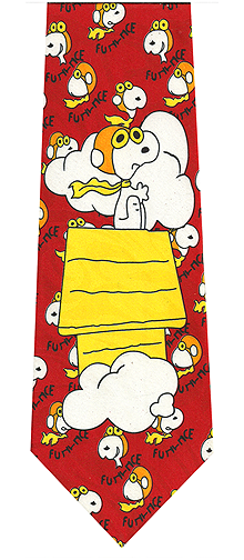 Peanuts Cartoon Character Snoopy Tie
