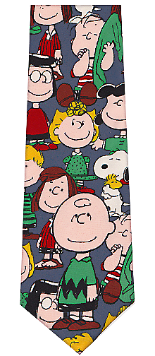 Peanuts Cartoon Characters Silk Necktie