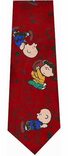 Peanuts Comics Football Theme Silk Tie