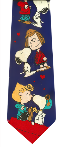 Peanuts Comics Love Silk Tie