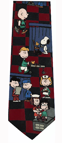 Peanuts Hospital Theme Silk Tie
