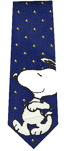 Peanuts Cartoons Snoopy Silk Tie