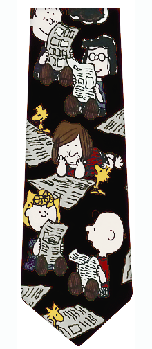 Peanuts Newspaper Silk Necktie