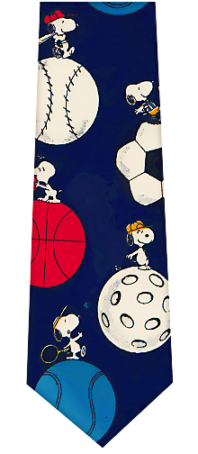 Peanuts Sports Theme Ties