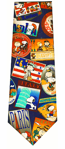 Peanuts Travel Agent Silk Tie