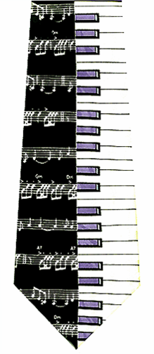 Piano and Music Scales Ties