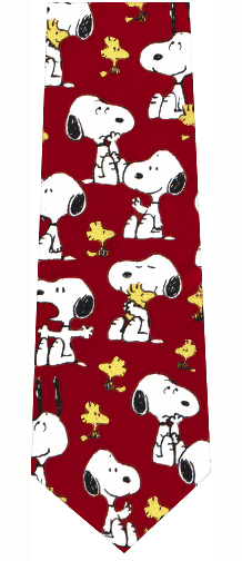 Snoopy and Woodstock Silk Tie