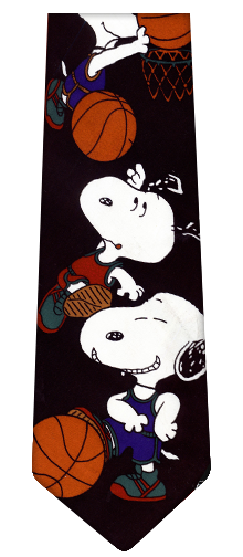 Snoopy Basketball Silk Ties