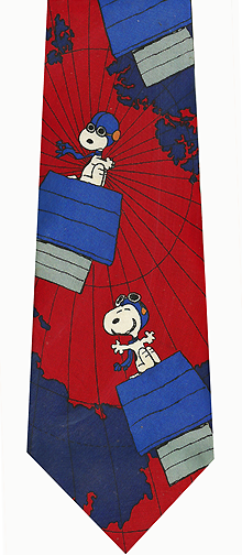 Snoopy Flying Ace Silk Necktie