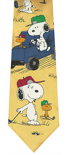 Snoopy Golf Caddy Silk Tie