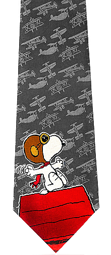Snoopy Red Baron Silk Tie
