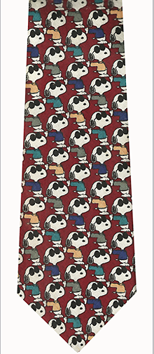 Snoopy Repeat Silk Necktie