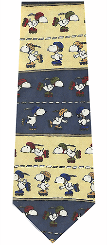 Snoopy Roller Skating Silk Tie