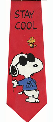 Snoopy Stay Cool Silk Tie
