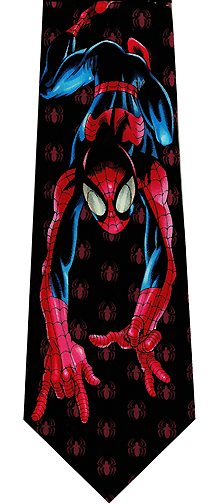 Spiderman Crawling Silk Necktie
