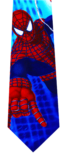 Spiderman Swinging Silk Tie