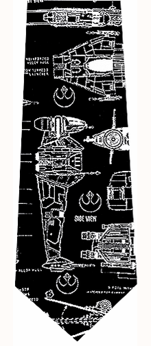 Star Wars Rebel Alliance Blueprints Silk Necktie