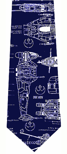 Star Wars Rebel Alliance Blueprints Silk Tie
