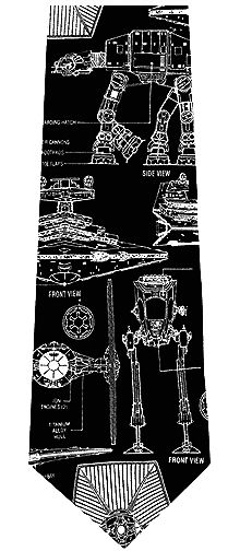 Star Wars Galactic Empire Blueprint Silk Tie