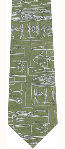 Star Wars Naboo Blue Print Collector Silk Tie