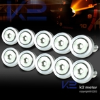 10PC Silver Aluminum Washer/Bolt Dress Up Kit